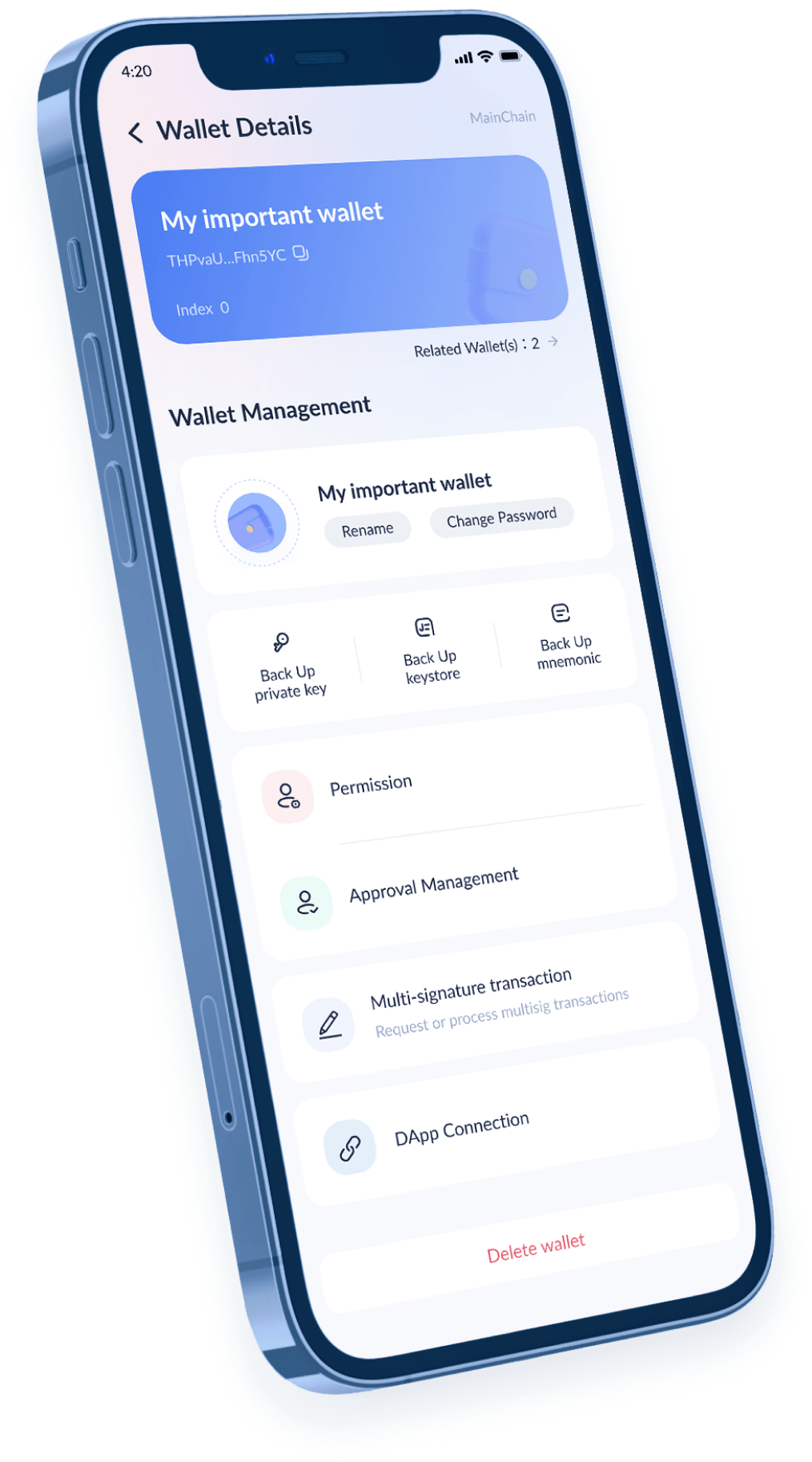 Most secure mobile crypto wallet